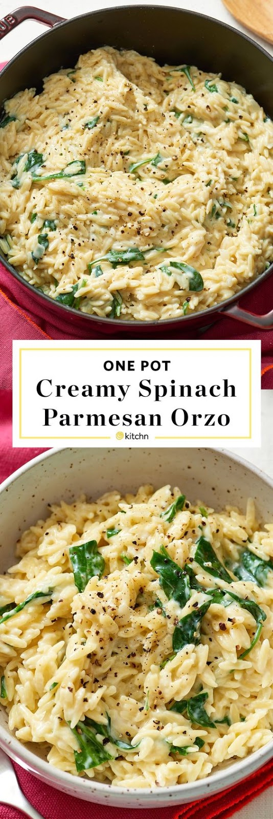 Creamy Spinach Parmesan Orzo