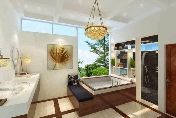 Desain kamar mandi mewah dan interior pendukungnya