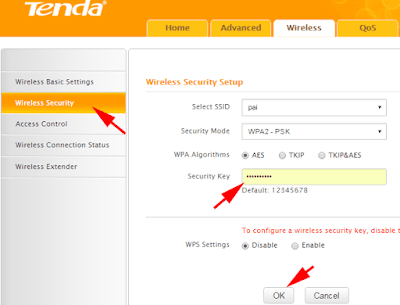 Change Wireless Network Name and Password on tenda