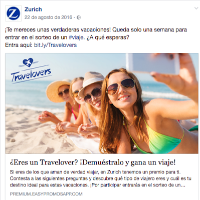Concurso Travelovers de Zurich Seguros