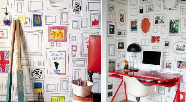 Decore a casa com molduras desenhadas na parede