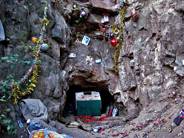 Las Flores Canyon's Buckley Mine was once home to a homeless man. This is a very shallow mine.