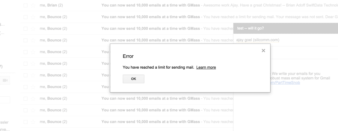 How many emails can you really send with GMass and Gmail
