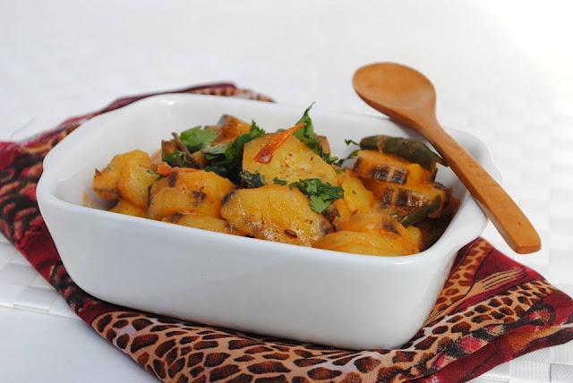 East African Delicacy - Matoke (green bananas)