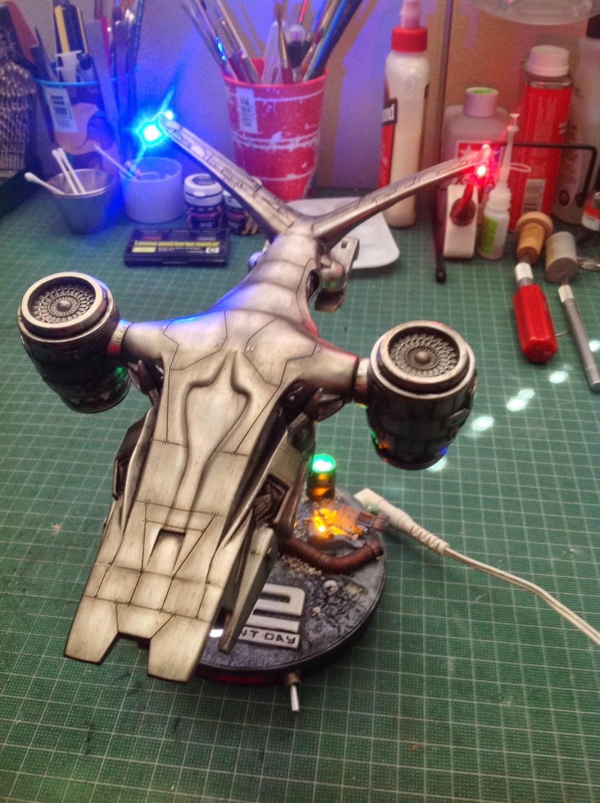 Scale model Pegasus T2 Terminator 2  Aerial HK