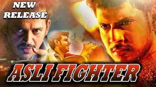 Poster Of Asli Fighter In Hindi Dubbed 300MB Compressed Small Size Pc Movie Free Download Only At worldfree4u.com