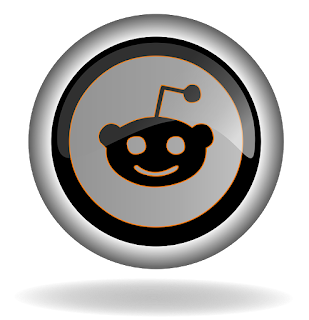 Reddit logo black and white