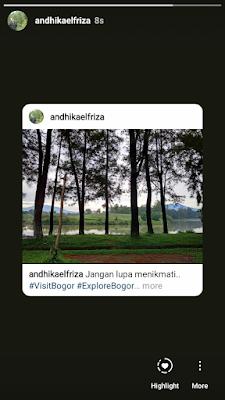 Share postingan instagram di Story