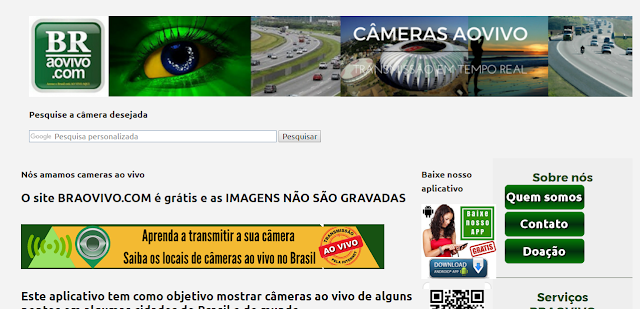 o melhor site de câmeras ao vivo do brasil