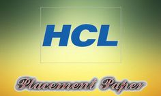 HCL Placement Paper for Freshers - Questions Asked