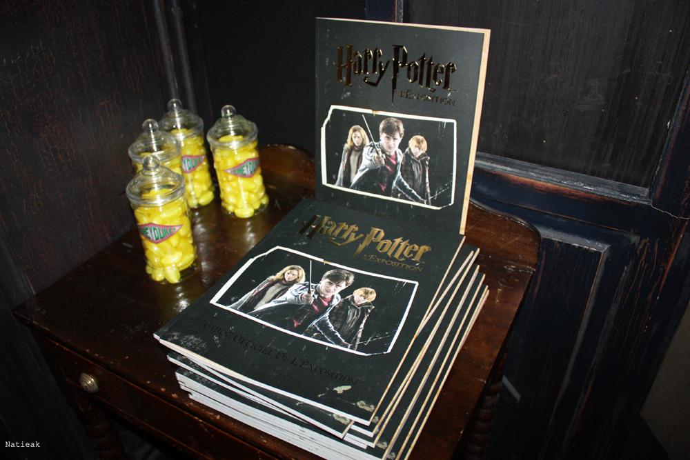 programme de l'expo exposition Harry Potter
