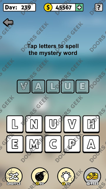 Words Story Day 239 Answer, Cheats, Solution