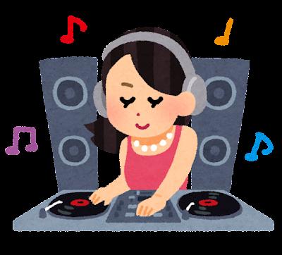 DJのイラスト(女性)