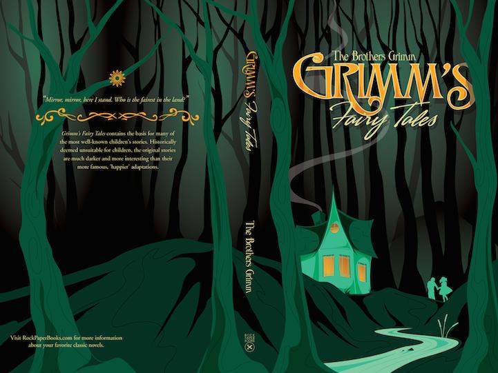 capa de livro com Contos dos irmãos Grimm