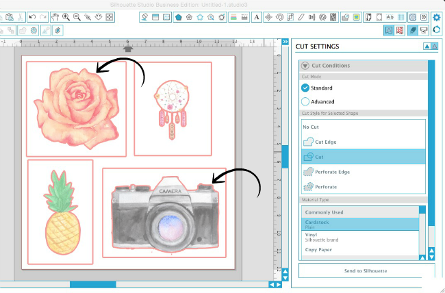 Silhouette Studio, Silhouette tutorial, removing cut box, transparent graphics