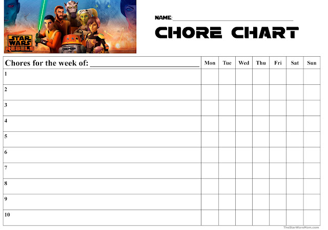 Star Wars Rebels Chore Chart by TheStarWarsMom.com