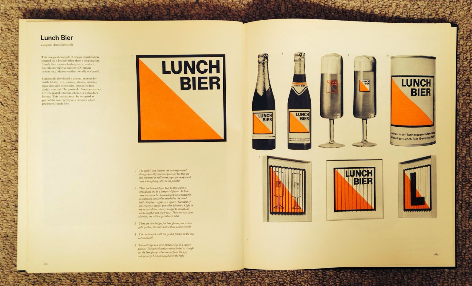 Lunch Bier logo and Bottles