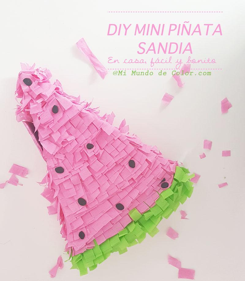 diy piñata watermelon sandia