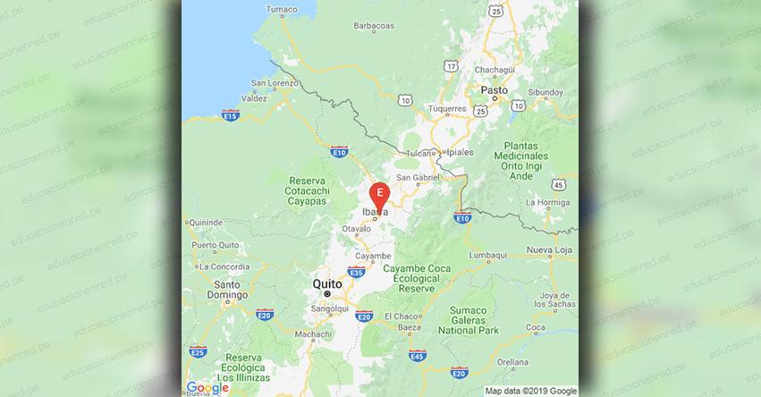 Temblor en Ecuador de Magnitud 2.8 (Hoy Martes 12 Marzo 2019) Sismo - Epicentro Ibarra - Imbabura - IGEPN - www.igepn.edu.ec