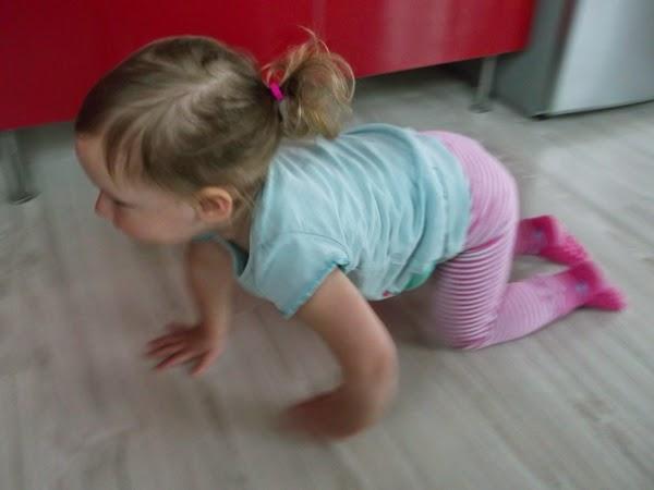dziewczynka, dwulatka w kitktach, kucykach