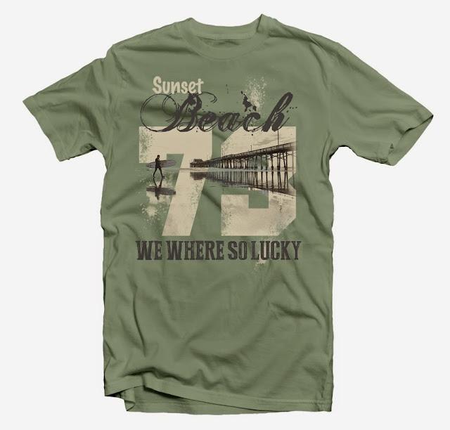 beach tshirt design