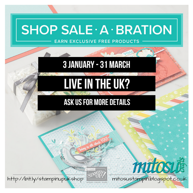 Shop Stampin' Up! during Sale-A-Bration to earn exclusive FREE products from Mitosu Crafts UK Online Shop