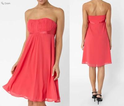 vestido bustier de color rosa