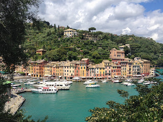 The harbour at Portofino, one of the pretty seaside villages of the Italian Riviera