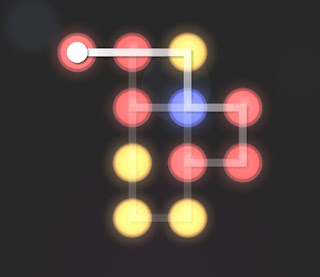 Solution, Cheats, Walkthrough for Neon Hack [Neon Dots] Level 38