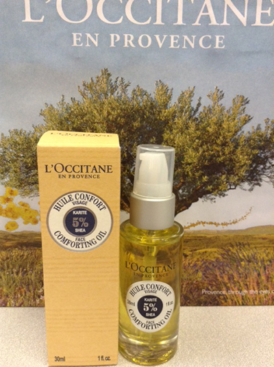 L'Occitane Face Soothing Fluid it contains 5% shea butter