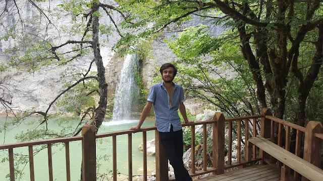 Harun İstenci Küre Dağları Milli Parkı Ilıca Şelalesi'nde.