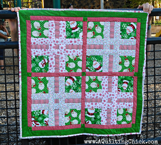Dear Santa - Full Quilt - Close Playground