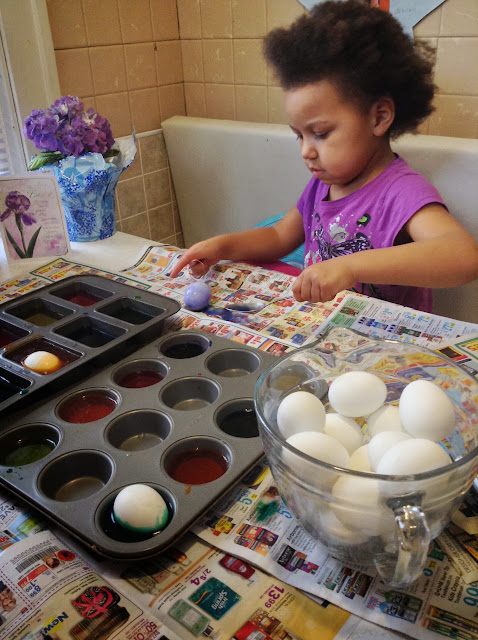 Concentrating on the eggs