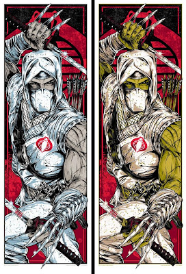 Acidfree Gallery x Hasbro G.I. Joe Screen Print Series - Cobra Triptic by Rhys Cooper: Storm Shadow Standard Edition & Variant
