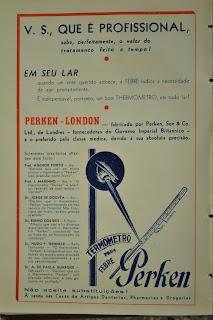 Anúncio do termômetro Perken