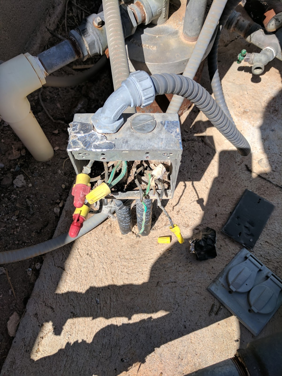 after checking with the neighbors and reviewing the history of our houses it turns out that those wires were from the original house on the land  [ 1200 x 1600 Pixel ]