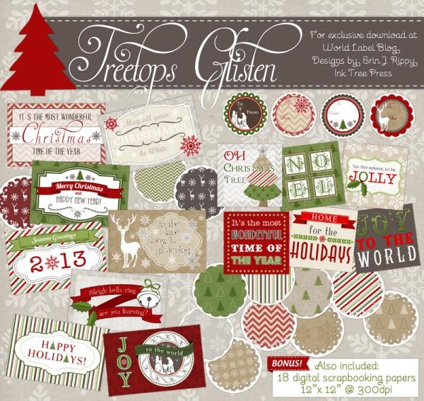 traditional christmas planner printables