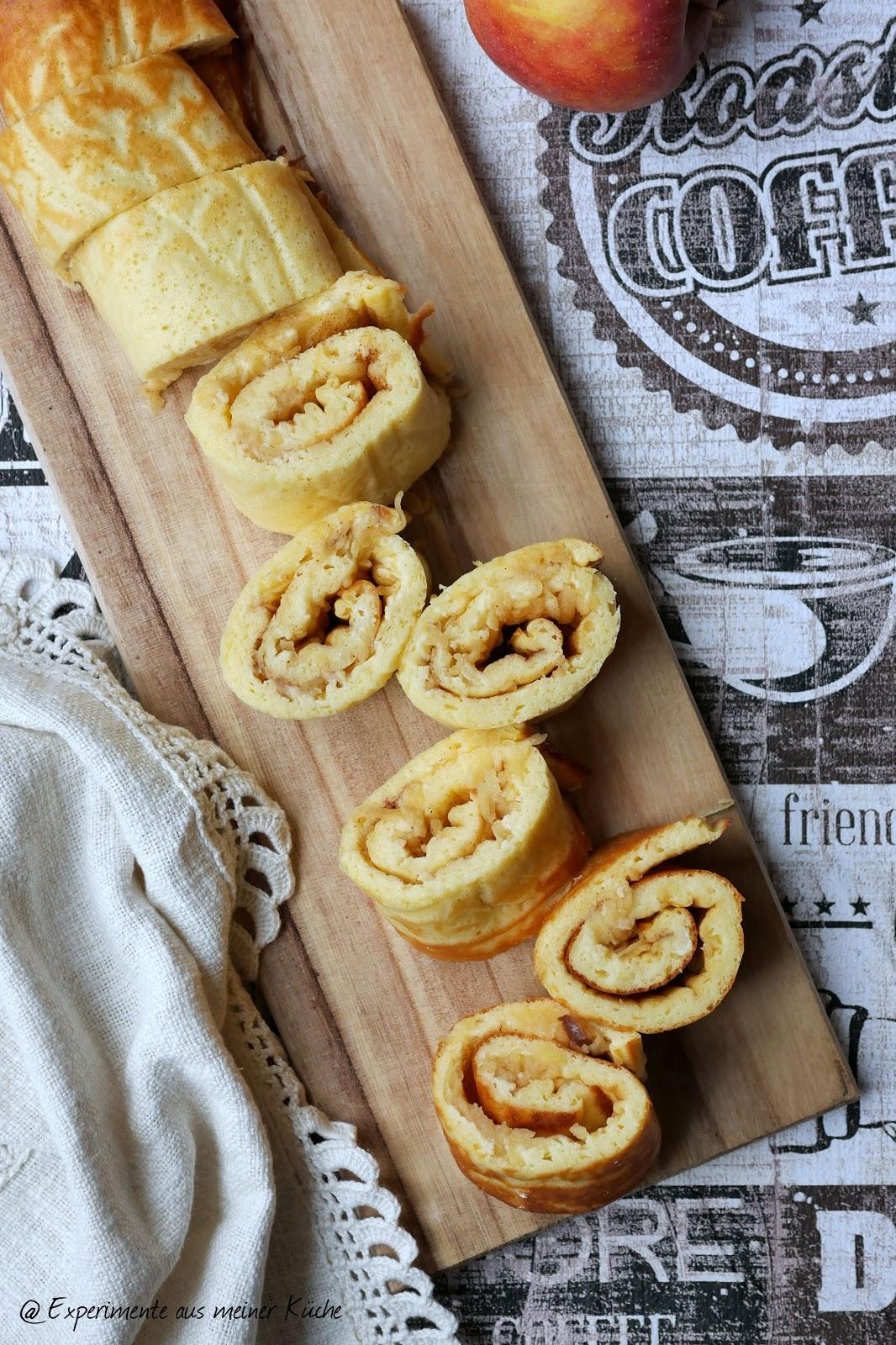 Experimente aus meiner Küche: Skyr-Pfannkuchen mit Apfel