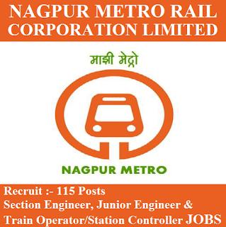 Nagpur Metro Rail Corporation Limited, NMRCL, Maharashtra, Metro Rail, Section Engineer, Junior Engineer, JE, Train Operator, Station Controller, Graduation, freejobalert, Sarkari Naukri, Latest Jobs, nmrcl logo