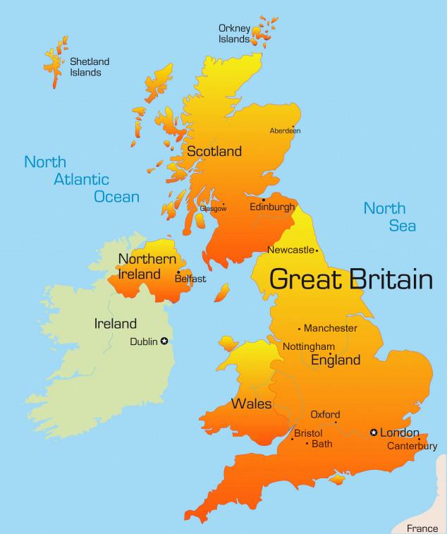 kart over storbritannia Kart over Storbritannia kart over storbritannia