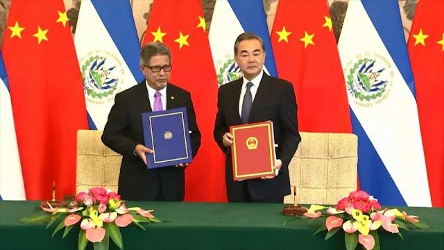 El Salvador rompe relaciones con Taiwán, las establece con China