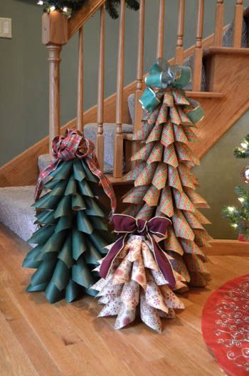 Paper cone trees ans DIY Christmas decorations