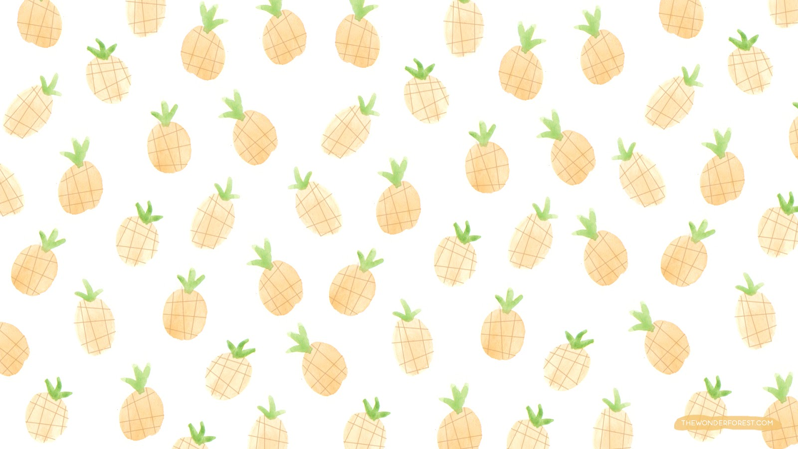 Cute Wallpapers Of Pineapples Fruity Iphone And Desktop Wallpapers Wonder Forest