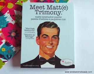 Paleta The Balm Meet Matt(e) Trimony