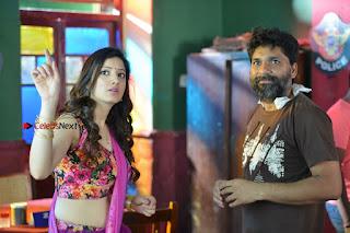 Actress Richa Panai Stills in Half Saree at Rakshaka Bhatudu Sets  0024.JPG