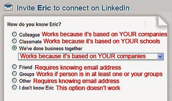 Best LinkedIn invitation connection option