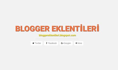 Blog Mobil Uyumlu Sosyal Paylaşım Butonları