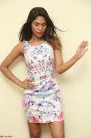 Nishi Ganda stunning cute in Flower Print short dress at Tick Tack Movie Press Meet March 2017 067.JPG