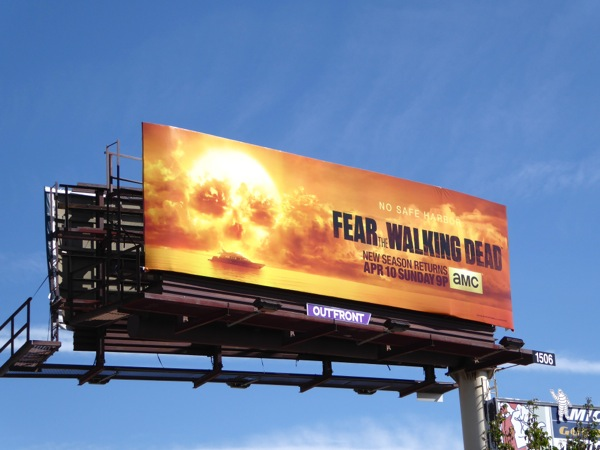 Fear the Walking Dead season 2 billboard