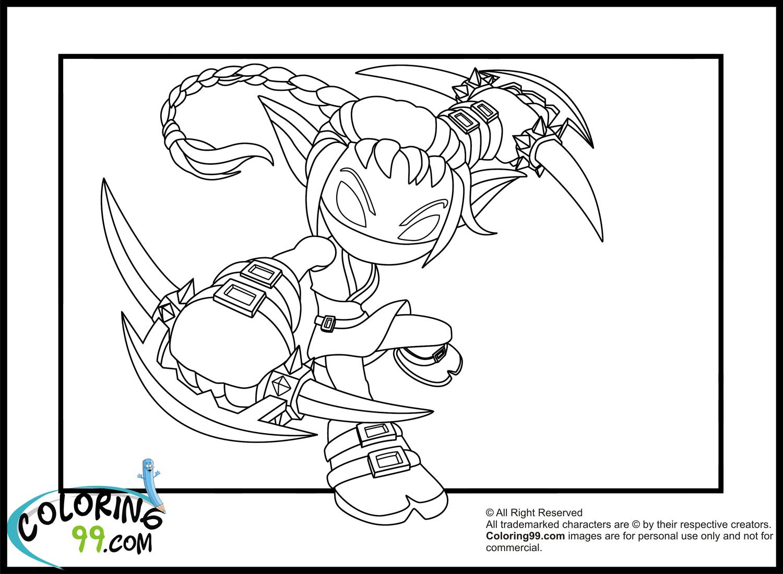 Skylanders Coloring Pages Stealth Elf Coloring Page
